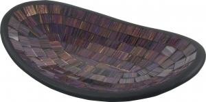 small purple striped oval mosaic bowl