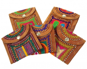 colourful leather wallet Rajastan