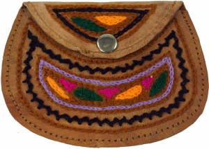 Colourful leather wallet Rajastan, purse