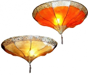 Henna - Leather ceiling lamp / ceiling lamp Salem
