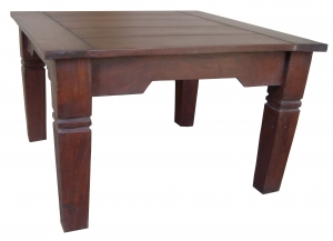 Dark brown square coffee table