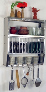 Stainless steel kitchen shelf, wall shelf Minikitchen with shelff..