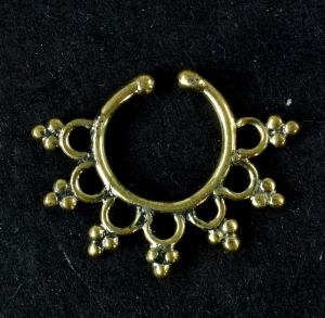 Fake Septum Ring, Nasenring, Nasenpiercing