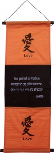 Feng Shui Wandbehang `love-orange`