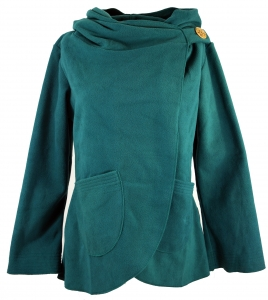 Fleece Cape Wickeljacke - petrol