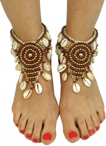Anklet, foot jewellery, Goaschmuck, barefoot decoration