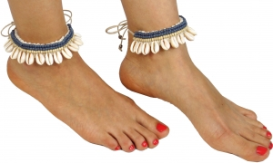 Anklet, foot jewellery, Goaschmuck, barefoot decoration, necklace..