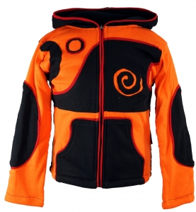 Goa Kinderjacke mit Zipfelkapuze - orange