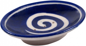 Hand-painted ceramic soap dish no. 13