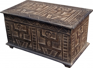 Hand-carved balsa wood chest in 3 sizes