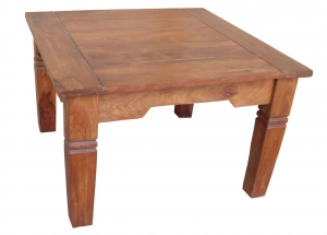 Light brown square coffee table