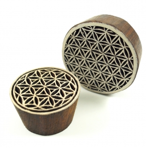 wood stamp flower of life