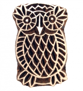 Wooden stamp owl