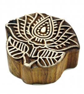 Wooden stamp lotus