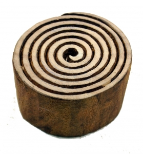 Wood stamp spiral of life