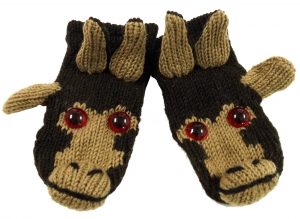 Children`s gloves, Animal gloves Monkey