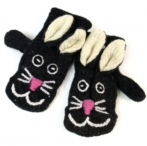 Children`s gloves, Animal gloves Cat