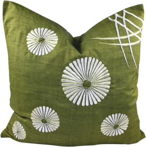 Retro cushion cover 4 - green