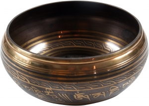 Singing bowl with engraving from Nepal 17 cm