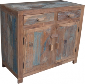 Chest of drawers in antique blue (JH7-95)