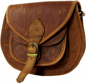 Leather bag Hippie chic - brown
