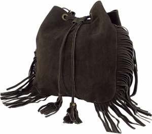 leather bag, leather shopper - dark brown