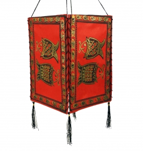 Lokta paper hanging lamp shade, ceiling lamp made of handmade pap..