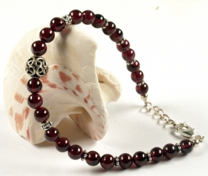 Mala Bracelet and Necklace Garnet