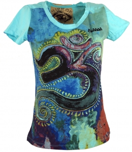 Mirror T-Shirt - Om/turquoise