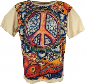 Mirror T-Shirt Peace - beige