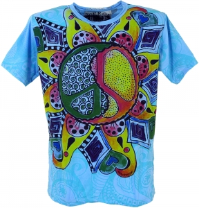 Mirror T-Shirt Peace - blau