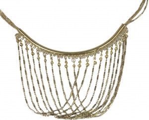Fashion jewellery necklace - gold