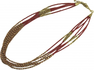 Fashion jewellery chain - red