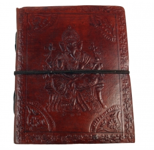 Notebook, leather book, diary with Ganesha 12*15 cm