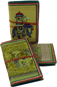 NotebookDiary with indian motive - green - 17x11x2 cm