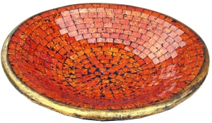 orange Mosaikschale rund