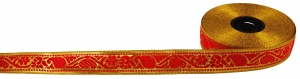 Orient border, woven ribbon from India, 2 cm wide, 1m