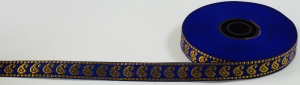 Orient border, woven ribbon from India, 1,5 cm wide, 1m
