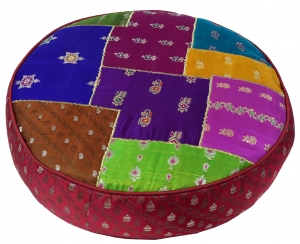 Oriental round patchwork cushion 40 cm, seat cushion, floor cushi..