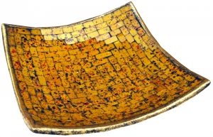 yellow square mosaic bowl