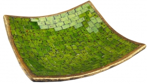 green square mosaic bowl