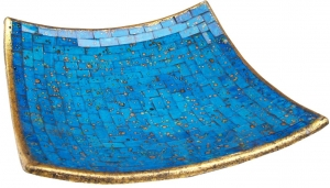 blue square mosaic bowl