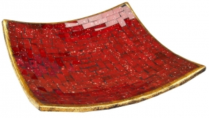 red square mosaic bowl