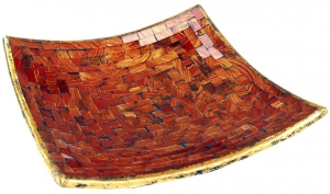 orange striped mosaic bowl angular