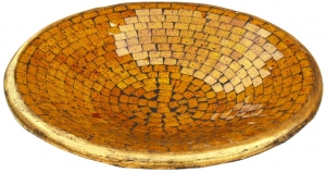 yellow mosaic bowl round