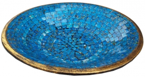 blue mosaic bowl round