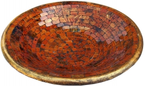 brown mosaic bowl round