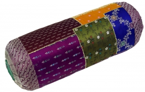 Patchwork neck roll, sofa cushion 50 cm - Patchwork