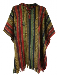Poncho Hippie chic, Andean poncho - colorful