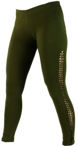 Psytrance Damen Leggings, Stretch Hose für Frauen, Yogahose - oli..
